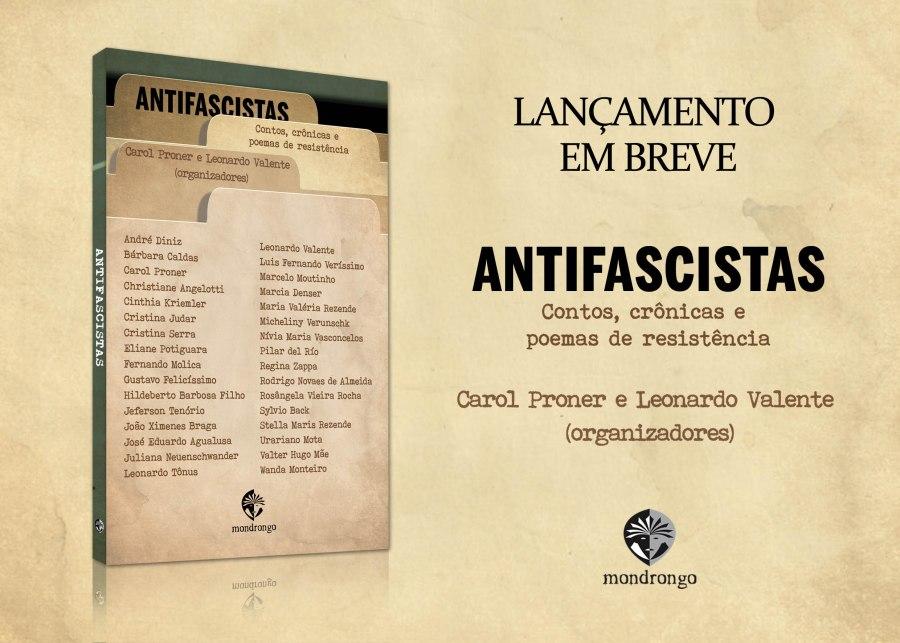 Banner Lançamento Mondrongo livro Antifacistas